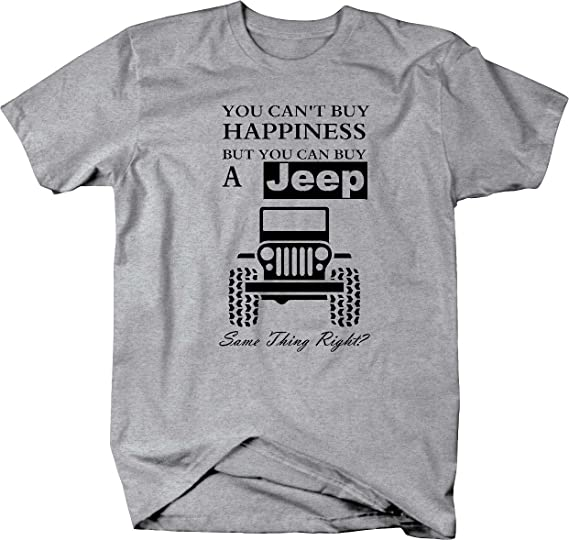 Land Rover You Cant Buy Happiness t shirt white text sizes 8 colours S to 5XL