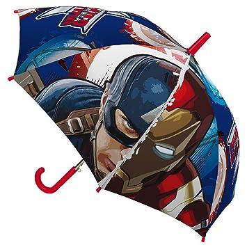 Marvel Paraguas infantil, 45 cm, Civil War, Capitán América y Iron Man