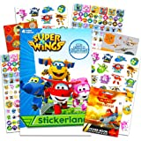 Super Wings Stickers Party Favors Pack - Over 295 Transforming Planes Stickers with Over 100 Disney Planes Stickers…