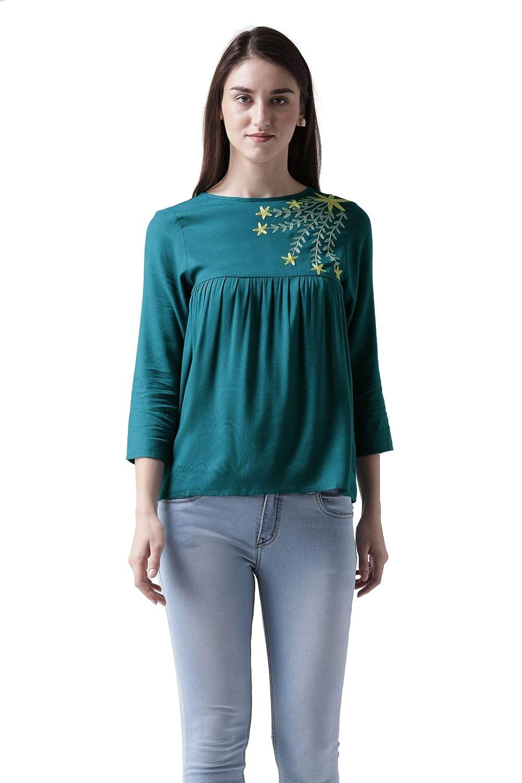 MsFQ Women's Plain Regular Fit Top