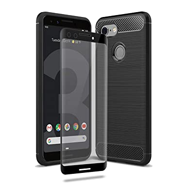 new style 4a1b1 2bdf9 Olixar Google Pixel 3 Case With Screen Protector - 360 Degree Full Body  Cover Sentinel - Tempered Glass - Tough Rugged Protection - Wireless  Charging ...