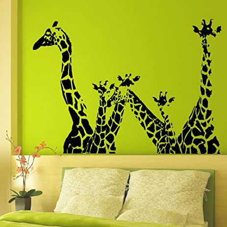 Vinyl Wall Decals Giraffe Animals Jungle Safari African Animal - Vinyl wall decals animals
