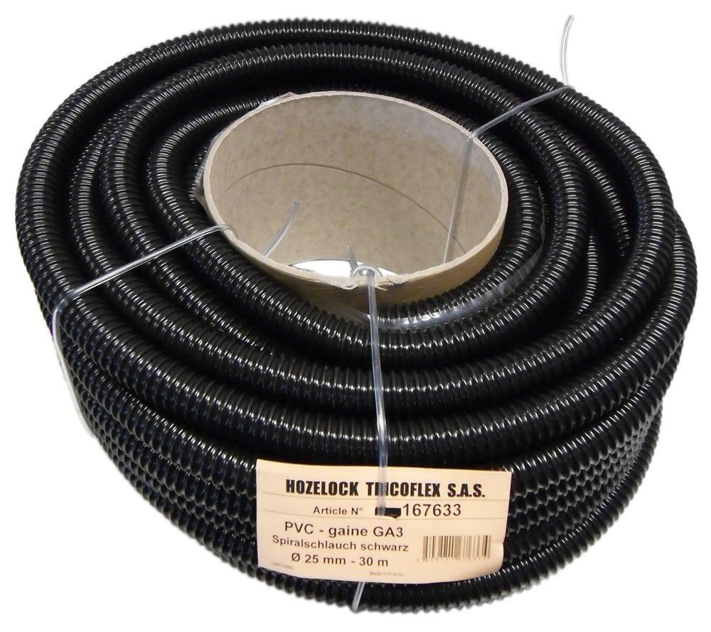 Tricoflex 01112020 Teichschlauch, leicht PVC schwarz 25 mm innen 30 m Rolle