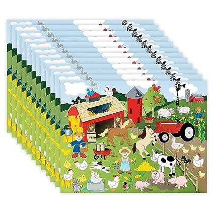 Amazon.com: Make a Farm - Juego de 12 pegatinas para la vida ...