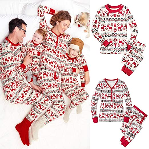 amazoncom christmas pajamas set warm family matching christmas pajamas sets sleepwear nightwear homewear for the family clothing