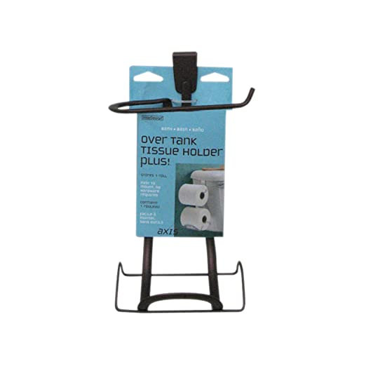 Amazon.com: InterDesign Axis Over Tank Toilet Paper Holder – 2 Roll ...