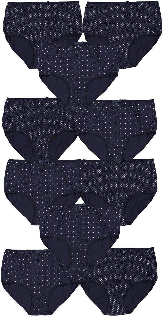 Alkato Bragas para Mujer de Cintura Alta Maxi, Pack de 10: Amazon.es: Ropa y accesorios