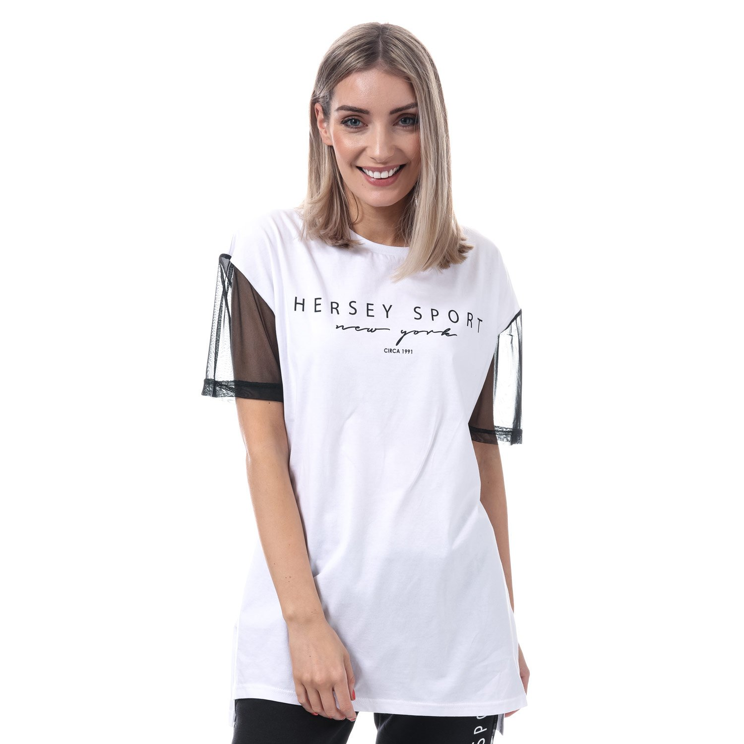 Womens Beck and Hersey Flip T-Shirt in White