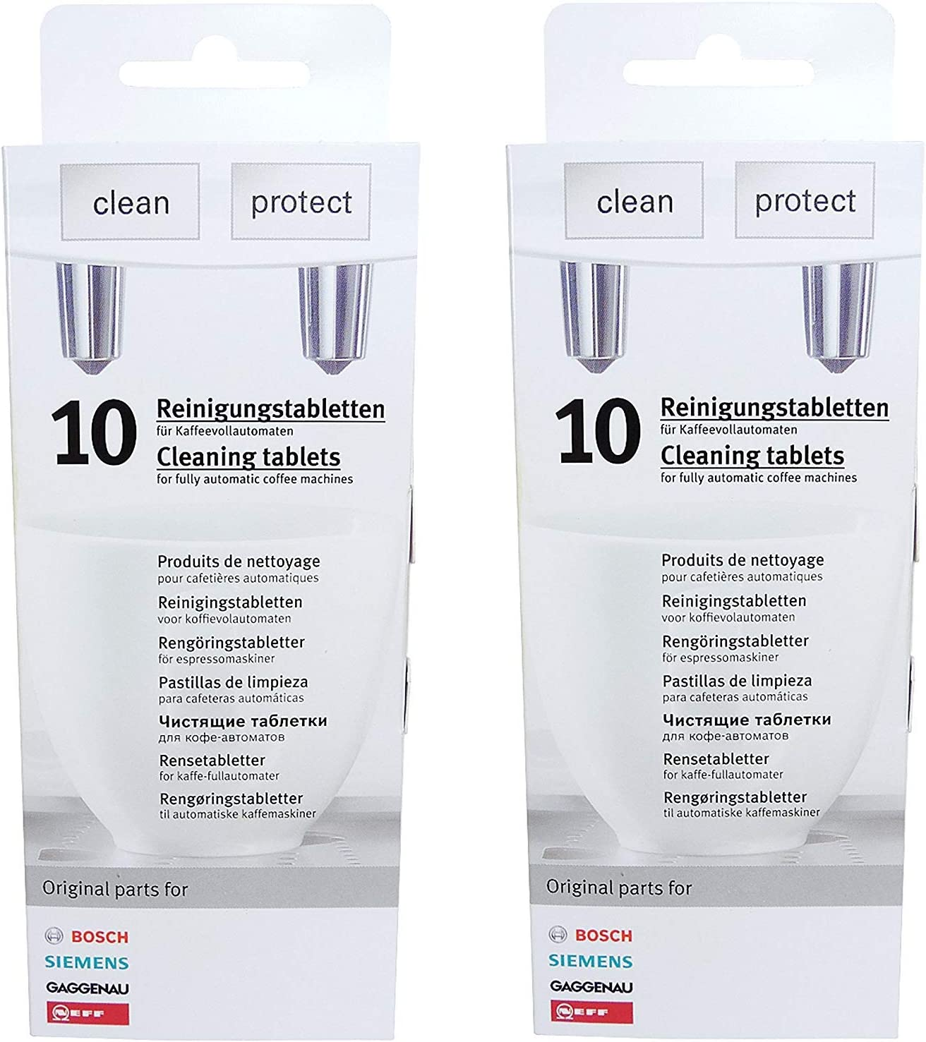 2 Pack Of Cleaning Tablets For Coffee Machines Siemensboschneffgaggenau 00311769 Replaces Tz60001310575 Tcz6001