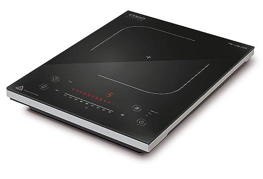 Caso Pro Slide 2100 - Placa de inducción individual con 12 niveles de potencia para graduar la temperatura con precisión, 2000 W