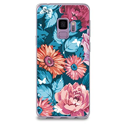 online retailer 0b855 b9f8e CasesByLorraine Samsung S9 Case, Vintage Floral Pattern Colorful Case  Flexible TPU Soft Gel Protective Cover for Samsung Galaxy S9 (T01)