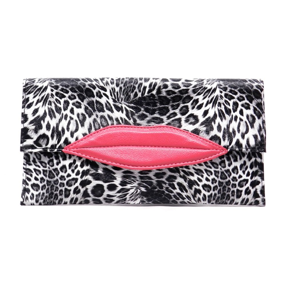 2Chique Boutique Womens Kiss Mark Clutch