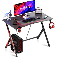 Motpk Gaming Desk Dad Gifts 31 inch PC Computer Desk, Home Office Desk Workstation with Carbon Fiber, Gaming Table with…