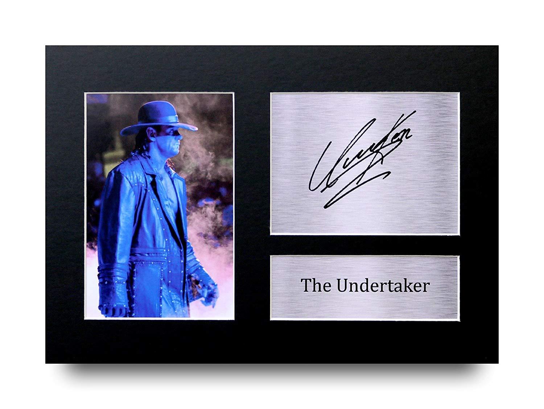 The Undertaker Les Cadeaux Ont Sign/é A4 LAutographe Imprim/é WWE WWF Lutte Affichage dimage de Photo DEmpreinte
