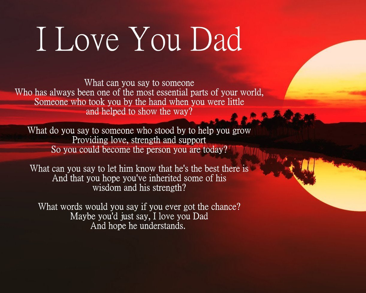 Uncategorized I Love You Daddy Poems personalised i love you dad poem fathers birthday christmas anniversary husband wife boyfriend girlfriend present gift perfect for fram
