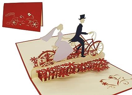 b904f918fa90 LIN Pop Up Biglietti di Matrimonio Inviti