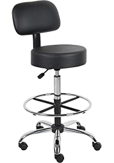 Boss Office Products B16245 BK Be Well Medical Spa Drafting Stool with  Back  BlackAmazon com  Office Star Sculptured Vinyl Seat and Back Pneumatic  . Office Star Height Adjustable Drafting Chair With Footring. Home Design Ideas