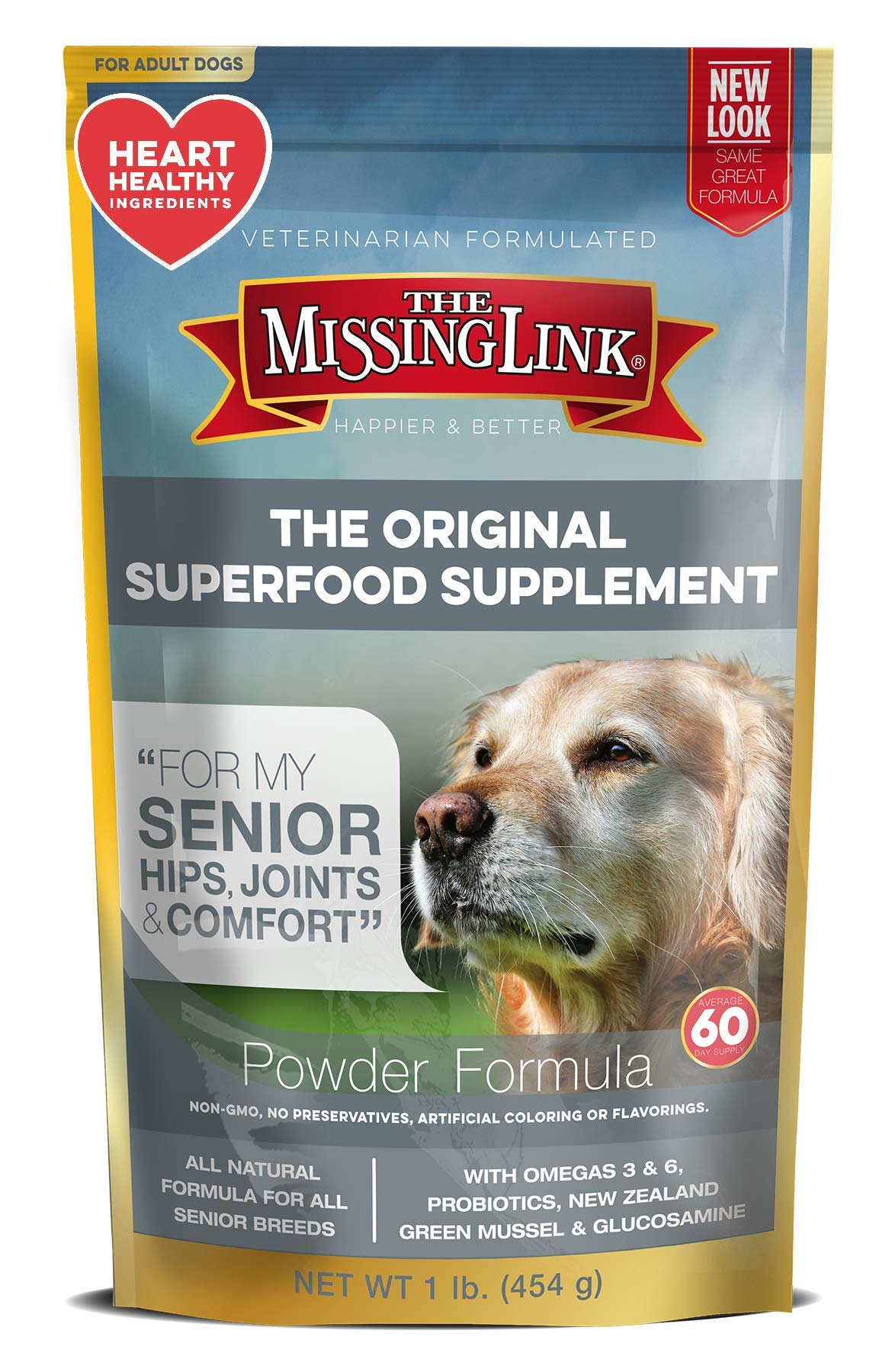The Missing Link Ultimate Canine Senior Health Supplement for Dogs - 1 lb by The Missing Link