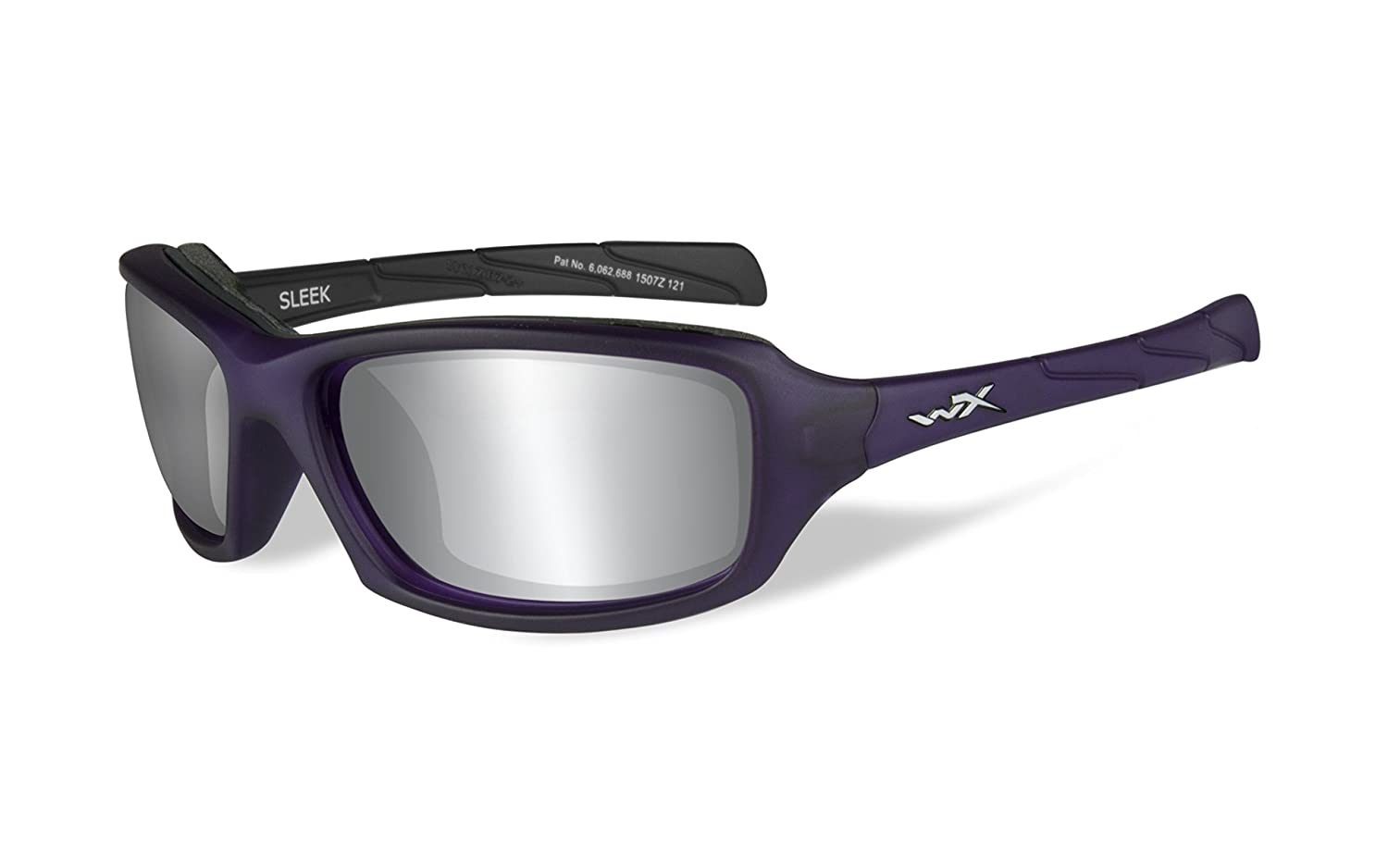 5f6b039b17f Amazon.com  Wiley X Unisex Sleek Grey Lens Matte Protective Sunglasses  Black One Size  Sports   Outdoors