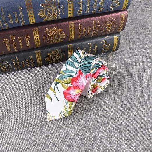 WBS-TIES Corbata Hombre Corbata de algodón Estampada de 6 cm for ...