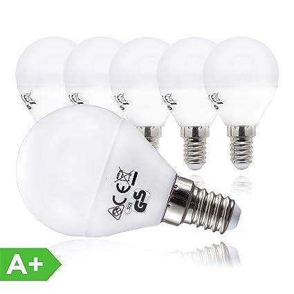 BKLicht Bombillas LED E14 I Ecológico I Bajo consumo I 5W equivalente a 40W I Pack de 5 I Luz Blanca natural 3000K 470lm I 230V IP20