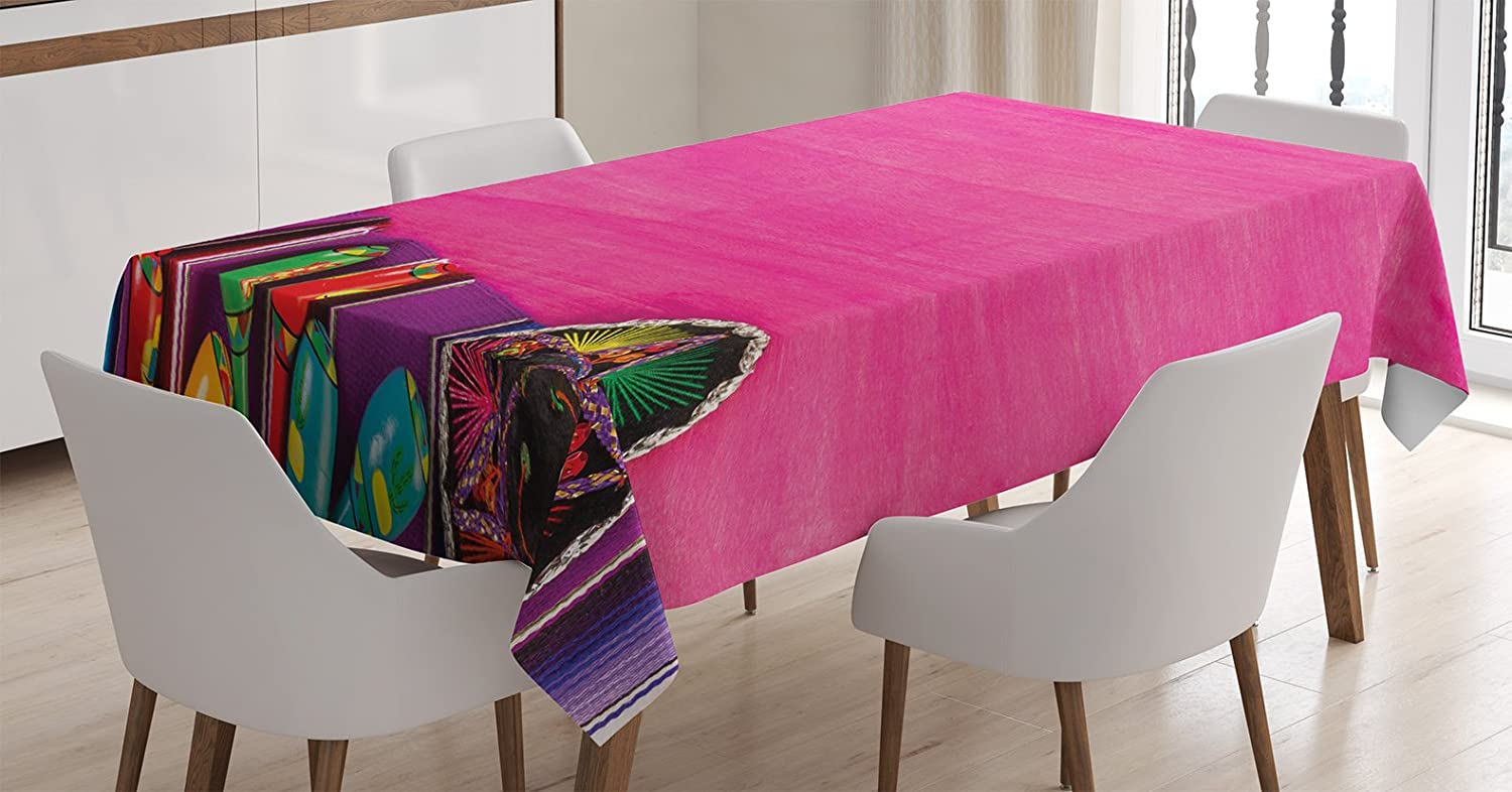 ebb64476a8 Amazon.com  Ambesonne Mexican Decorations Tablecloth