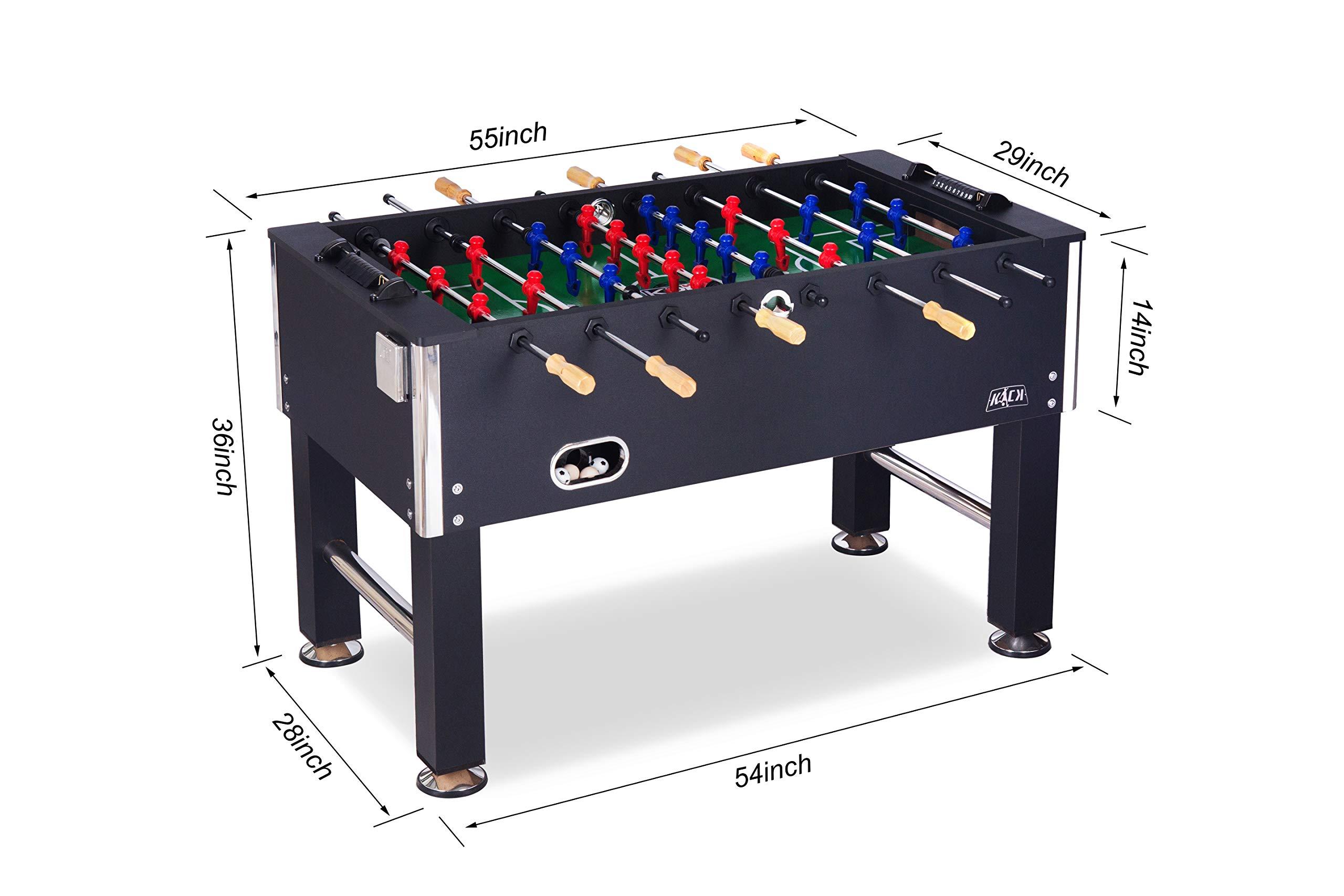 KICK Triumph 55″ in Black Foosball Table by KICK