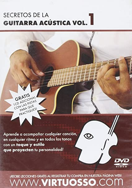 amazon com virtuosso acoustic guitar full method in 3 dvd curso