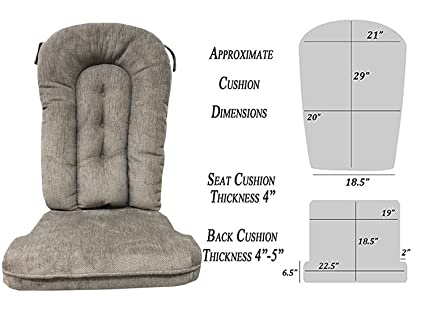 Glider Rocker Replacement Cushion Set, Grey Color