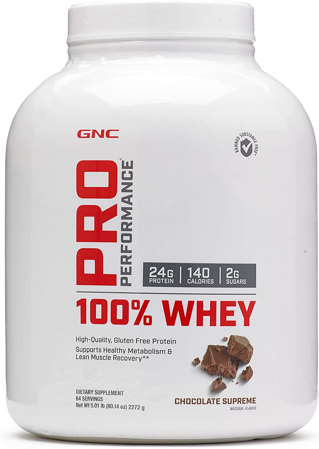 GNC Pro Performance 100 Whey Protein – Chocolate Supreme 5.01 lbs.