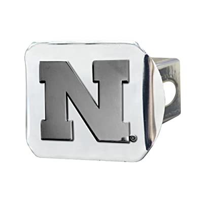 FANMATS NCAA University of Nebraska Cornhuskers Chrome Hitch Cover: Automotive