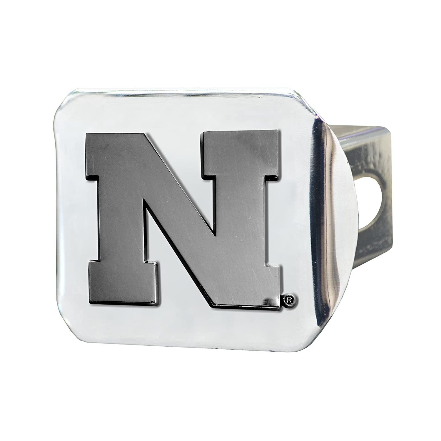 FANMATS NCAA University of Nebraska Cornhuskers Chrome Hitch Cover 15058