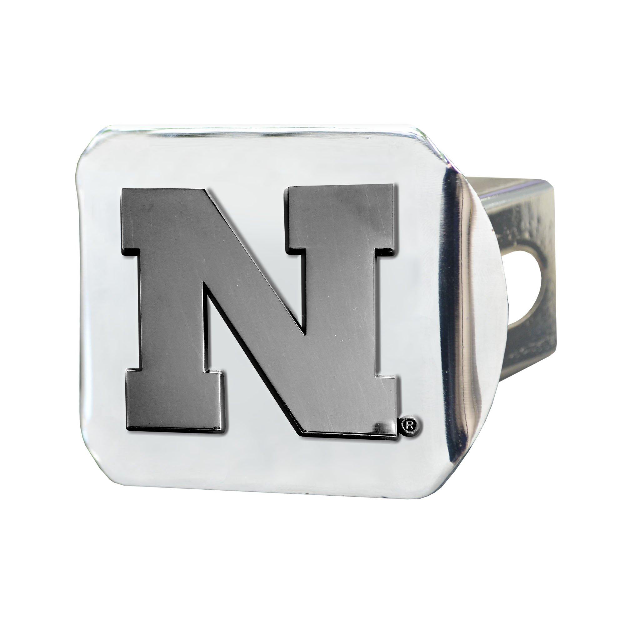 FANMATS NCAA University of Nebraska Cornhuskers Chrome Hitch Cover