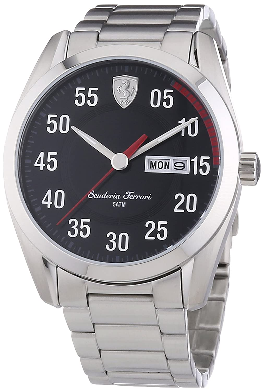 Ferrari Herren-Armbanduhr XL D50 Analog Quarz Edelstahl 830180