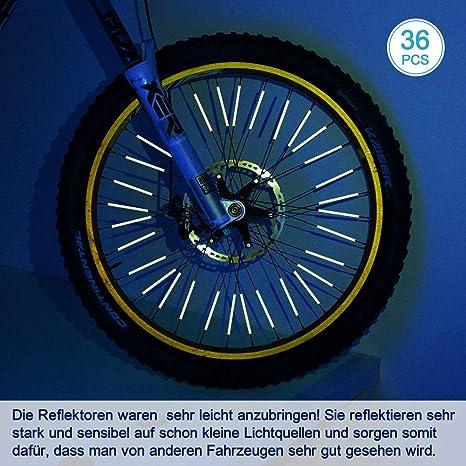 Rolling Road Impact test/é 300 // test/é /à TUV et StVZO allemand Road Traffic approbations garantie gratuite de 5 ans Aero Sport/® ReflectaClipTM 36pcs x 6cm 360/º Enduit avec 3M Scotchlite/® est conforme /à BS 6102//2