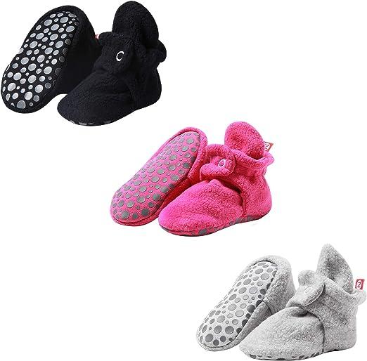 Zutano unisex-baby Cozie Fleece Baby Booties With Grippers