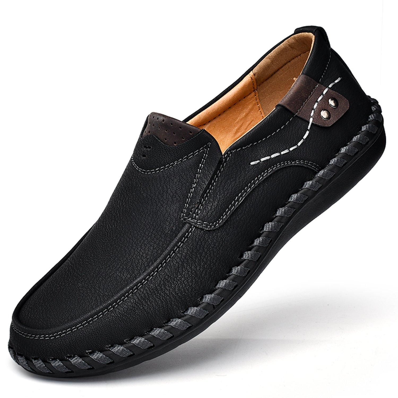 Nomioce - Zapatilla Baja de Cuero Hombre 41.5 EU|Negro