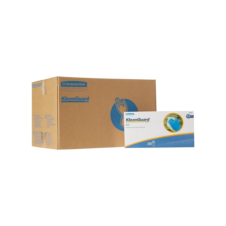 Kleenguard G10 Arctic Blue Nitrile Gloves (90095), Ambidextrous, Powder  Free, Extra Small (XS), 10 Dispensers / Case, 200 Gloves / Dispenser, 2, ...