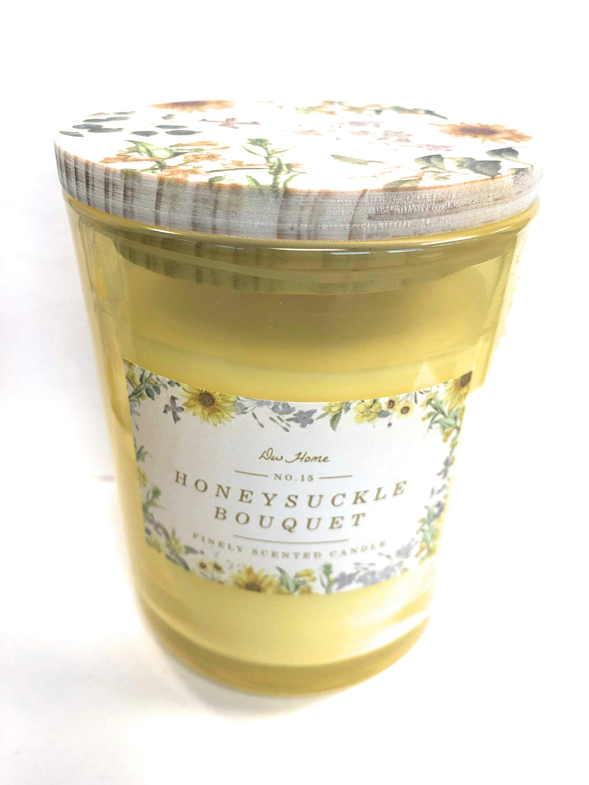 DW Home Honeysuckle Bouquet Double Wick Candle No 15. 14 Oz