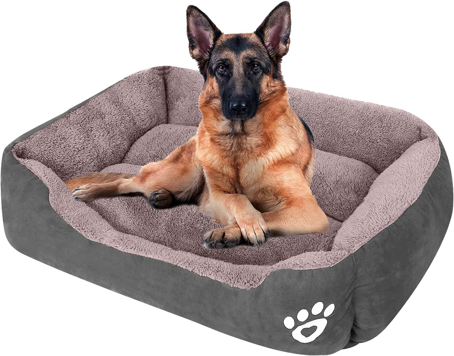 Amazon Com Cloudzone Dog Bed Machine Washable Rectangle Breathable Soft Fiber With Nonskid Bottom Extra Large Pet Bed For Medium And Large Dogs Or Multiple Kitchen Dining