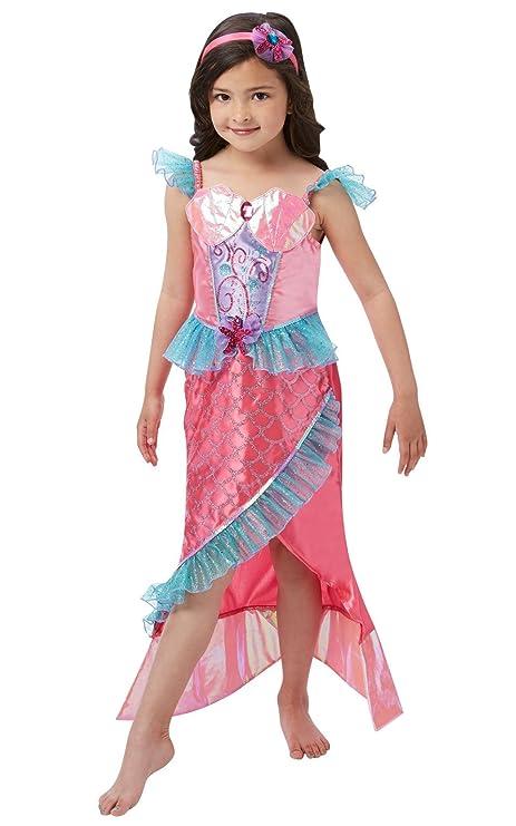 Rubies s oficial disfraz de sirena princesa niñas grande ...