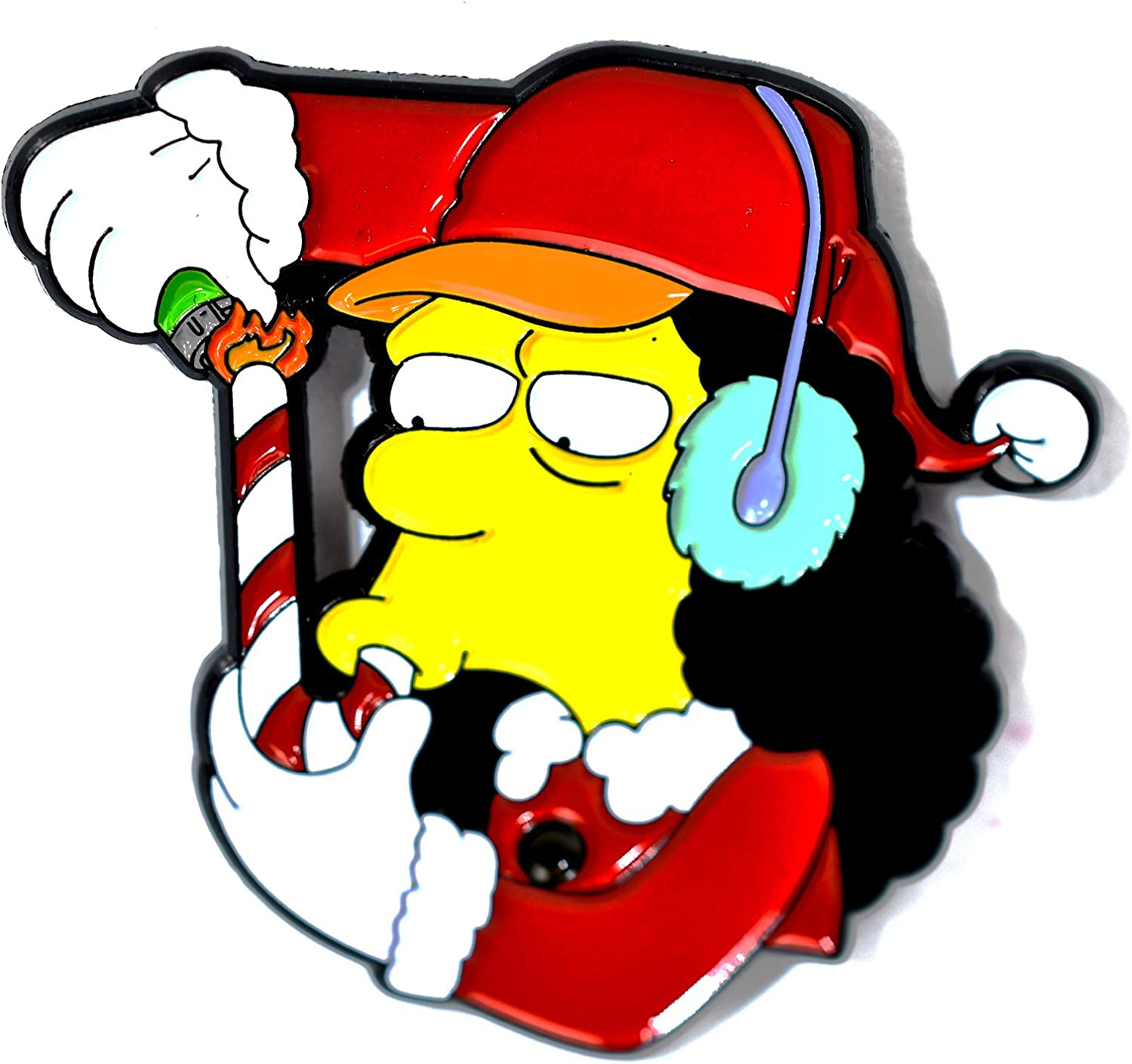 Amazon Com Otto Man Simpsons Candy Cane Smoking Novelty Art Pendant Lapel Hat Pin Arts Crafts Sewing