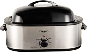 20-Quart Electric Roaster Oven, Turkey Roaster Oven with Removable Pan