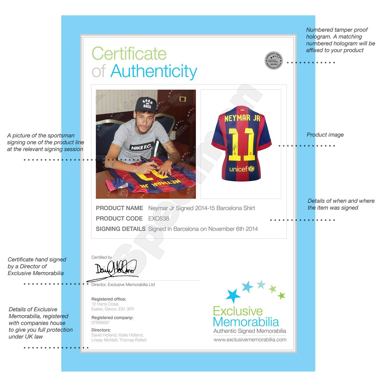 Firmado y enmarcado de Barcelona Neymar Jr 2014-15 camiseta de ...