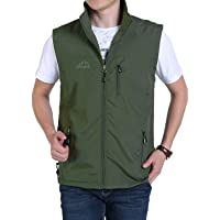4c11f637f9e18 Gihuo Men's Casual Outdoor Lightweight Quick Dry Fish Travel Safari Vest