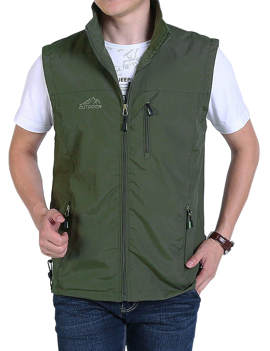 Gihuo Men S Golf Lightweight Photo Vest Fishing Travel Safari Vest
