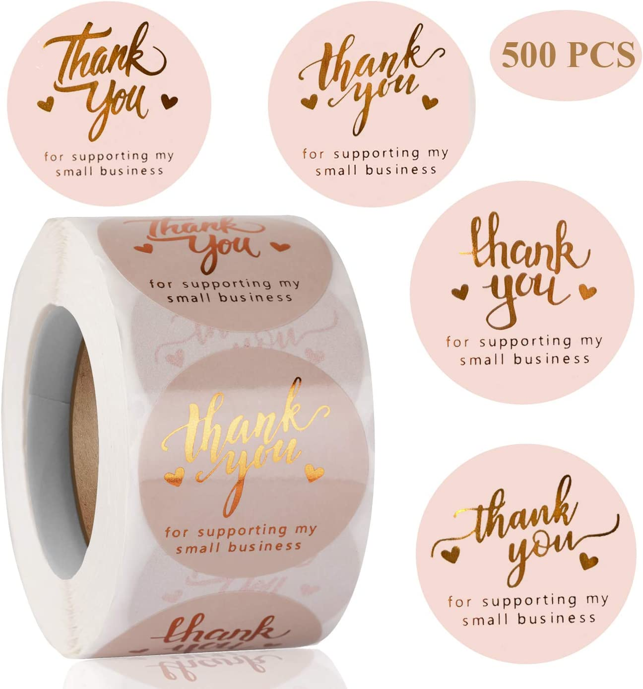 Amazon Com 1 5 Thank You For Supporting My Small Business Stickers 4 Designs Hot Silver Font Thank You Sticker Rolls For Greeting Cards Flower Bouquets Self Adhesive Labels For Gift Wraps Tags Mailers