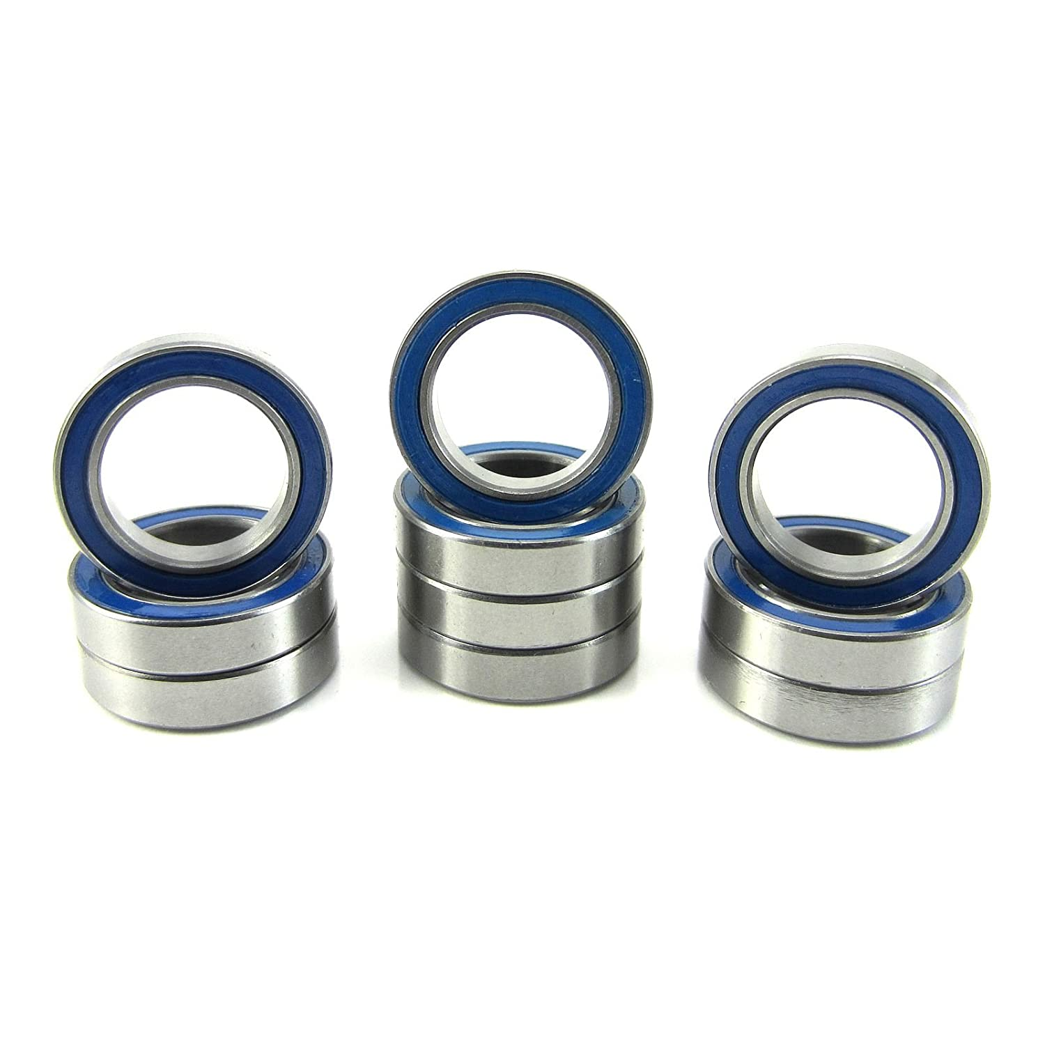 12x18x4mm Precision Ball Bearings ABEC 3 Rubber Seals (10) 6701-2RS-BU TRB RC