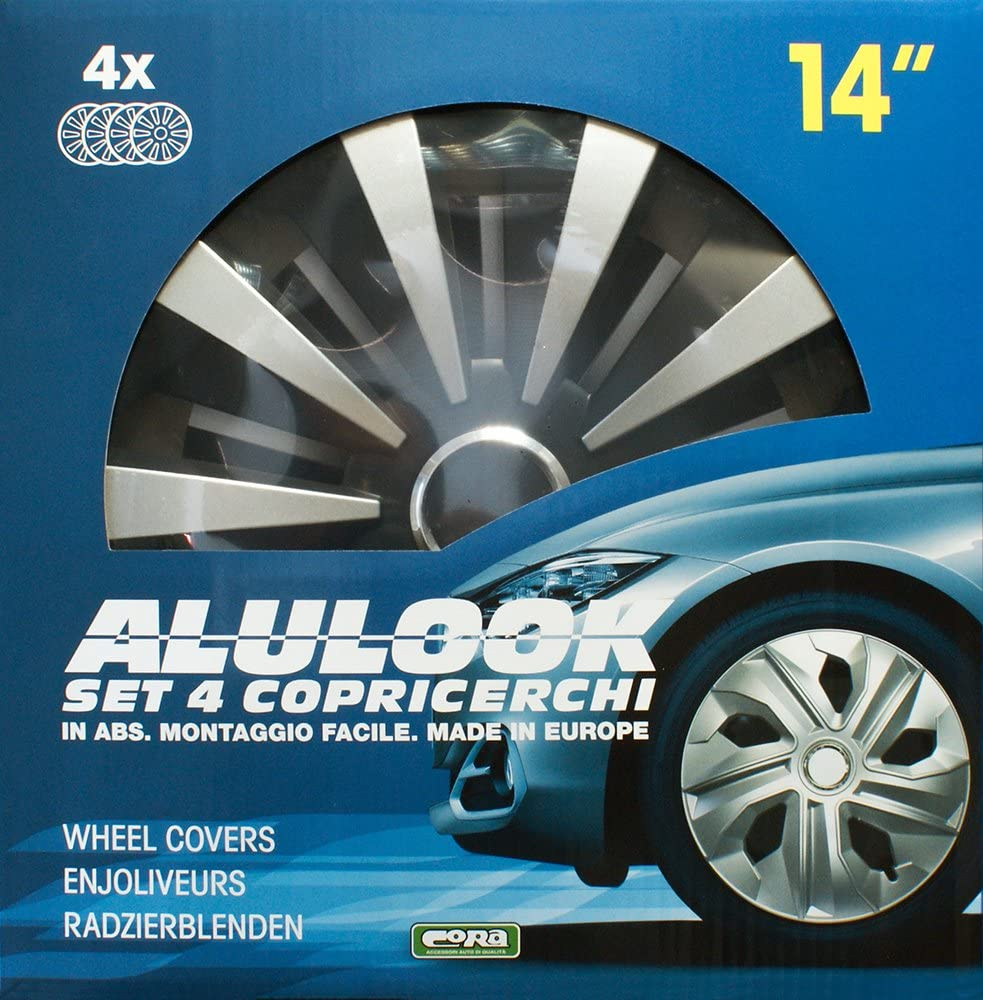 CORA 41844 Set 4 Universali Alulook Fox Mix Copricerchi 14 Set di 4