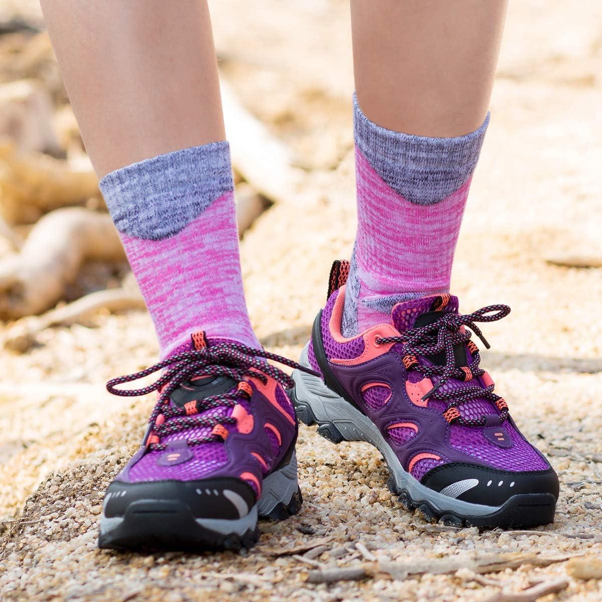 YUEDGE 3 Paar Damen Wandersocken Atmungsaktiv Hochleistung Trekking Camping Outdoor Sport Socken